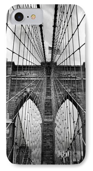 Brooklyn Bridge Mood IPhone Case by Jessica Jenney