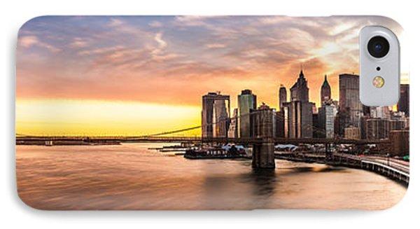 Brooklyn Bridge Panorama IPhone Case by Mihai Andritoiu
