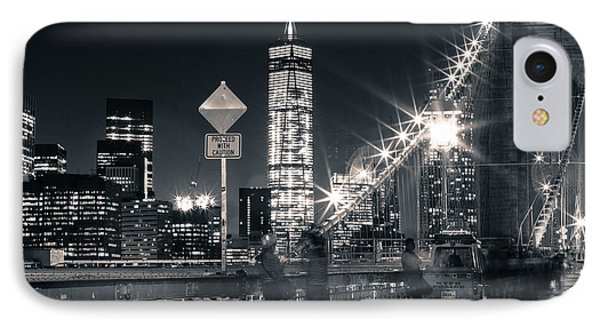 Brooklyn Bridge IPhone Case by Silvia Bruno
