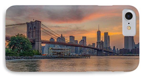 Brooklyn Bridge Summer Sunset IPhone Case by Scott McGuire