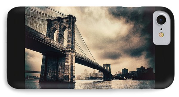 Brooklyn Bridge Vintage IPhone Case by Jessica Jenney