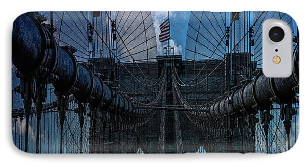 IPhone Case featuring the photograph Brooklyn Bridge Webs by Chris Lord