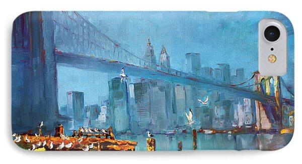 Brooklyn Bridge Phone Case by Ylli Haruni