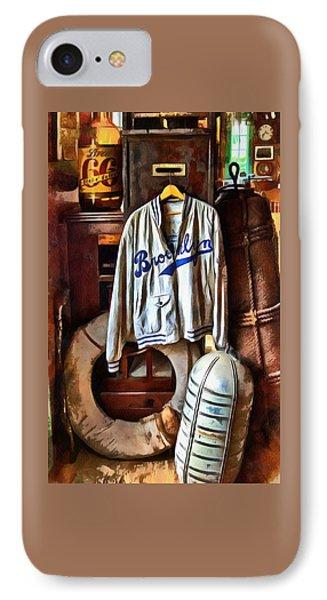 Brooklyn Dodgers Baseball  IPhone Case by Thom Zehrfeld
