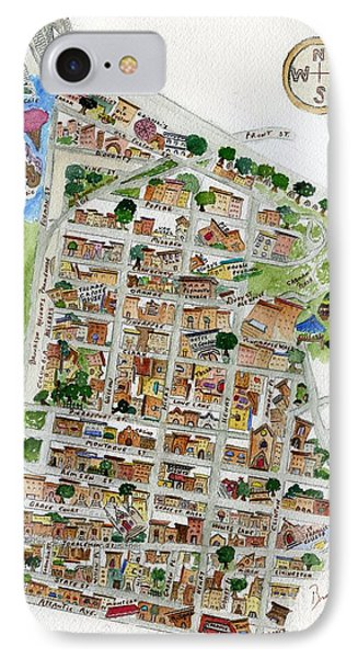 Brooklyn Heights Map IPhone Case by AFineLyne