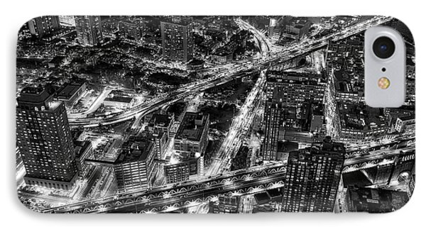 Brooklyn Nyc Infrastructure Bw IPhone Case by Susan Candelario