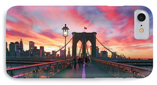 Landscapes iPhone 7 Case - Brooklyn Sunset by Rick Berk