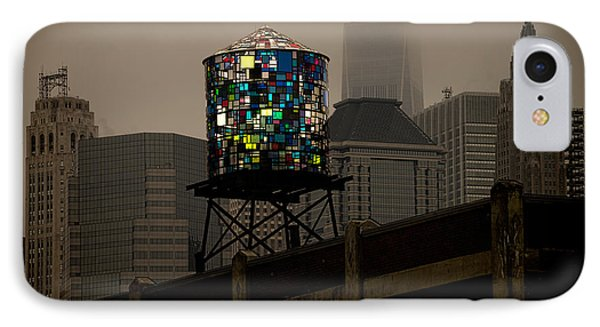 IPhone Case featuring the photograph Brooklyn Water Tower by Chris Lord