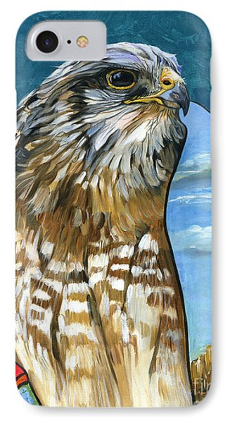 Brother Hawk IPhone Case by J W Baker