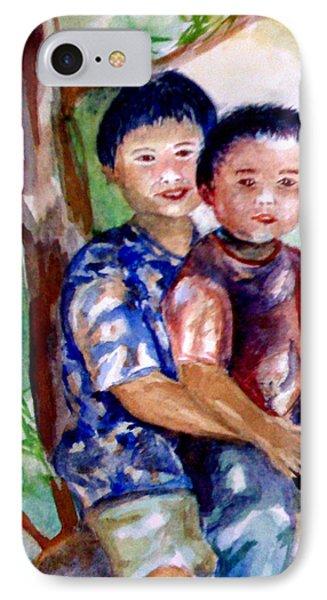 Brothers Bonding Phone Case by Matthew Doronila