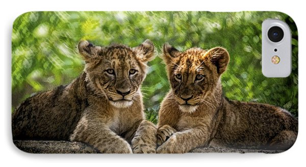 IPhone Case featuring the photograph Brothers Chillin by Cheri McEachin