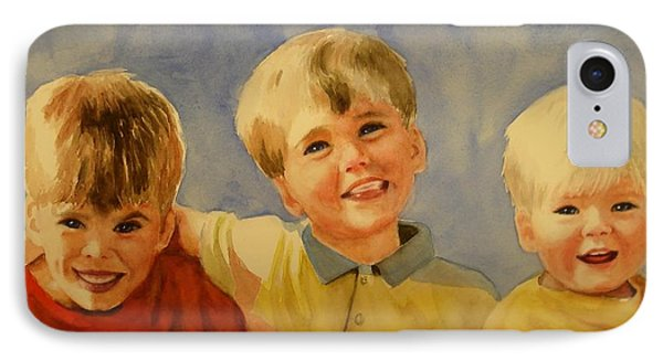 Brothers Phone Case by Marilyn Jacobson