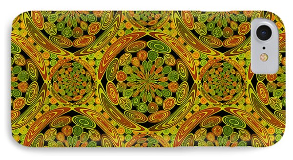 Brown And Green Circles IPhone Case by Gaspar Avila