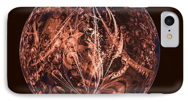 Brown Artificial Planet IPhone Case