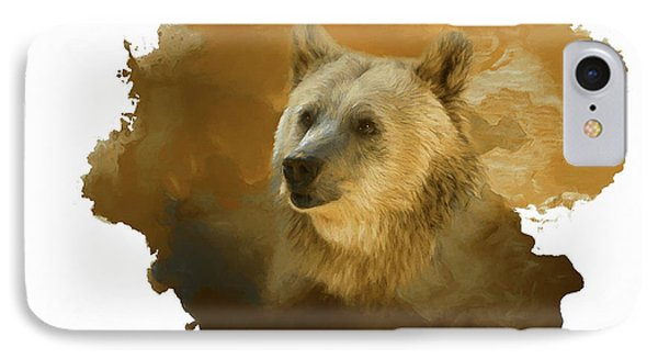 IPhone Case featuring the painting Brown Bear by Steven Richardson