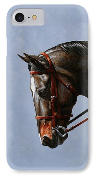 Brown Dressage Horse Phone Case IPhone Case by Crista Forest