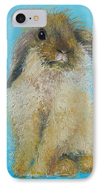 Brown Easter Bunny IPhone Case