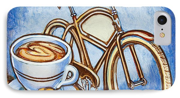 Brown Electra Delivery Bicycle Coffee And Amaretti IPhone Case by Mark Jones