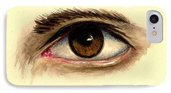 Brown Eye IPhone Case by Michael Vigliotti