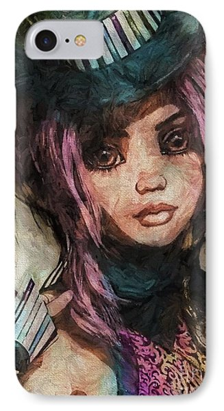 Brown Eyed Girl IPhone Case by Autumn Moon