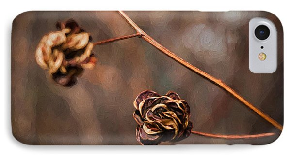 Brown Flower Seed IPhone Case