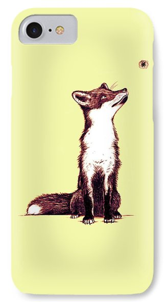 Brown Fox Looks At Thing IPhone Case by Nicholas Ely