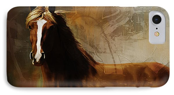 Brown Horse Pose IPhone Case by Gull G