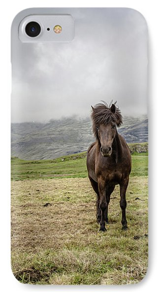 IPhone Case featuring the photograph Brown Icelandic Horse by Edward Fielding
