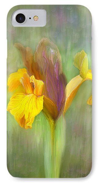 Brown Iris Phone Case by Angela A Stanton