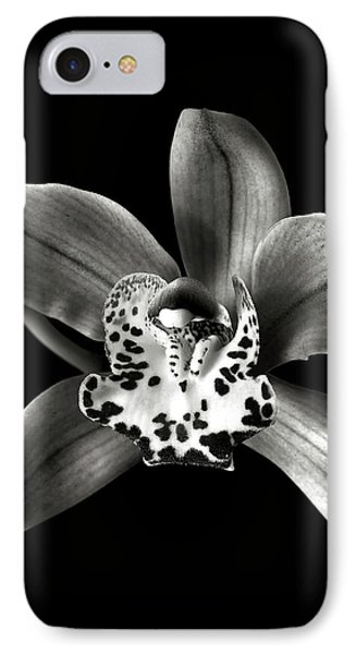 Brown Orchid In Black And White IPhone Case by Endre Balogh