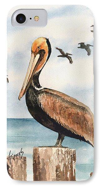Brown Pelicans IPhone Case by Sam Sidders