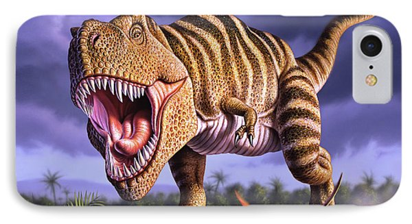 Dinosaur iPhone 7 Case - Brown Rex by Jerry LoFaro