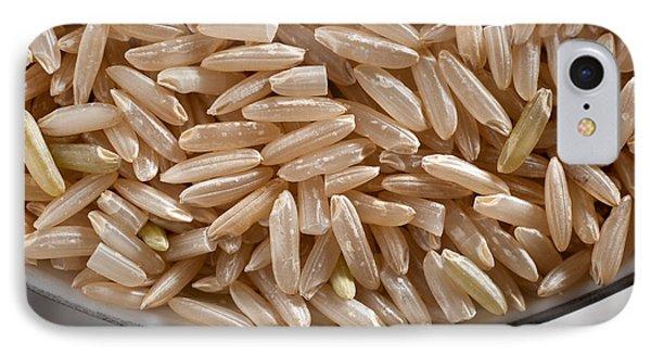 Brown Rice In Bowl Phone Case by Steve Gadomski