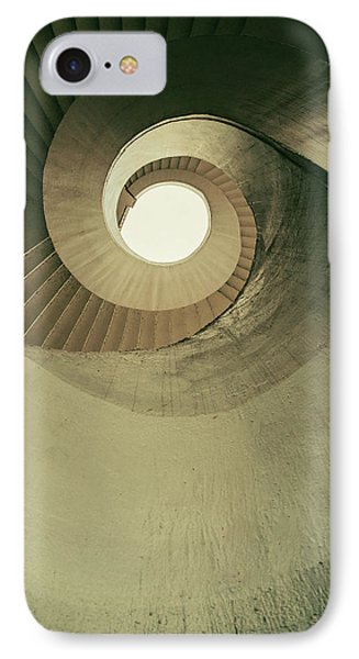 IPhone Case featuring the photograph Brown Spiral Stairs by Jaroslaw Blaminsky