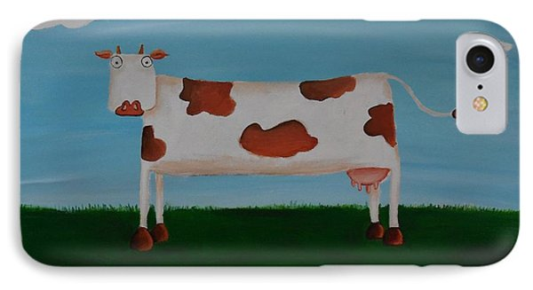 Brown Spotted Cow IPhone Case