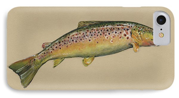 Brown Trout Jumping IPhone 7 Case by Juan Bosco