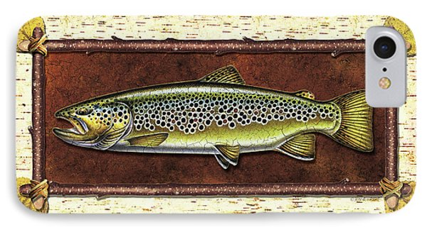 Brown Trout Lodge IPhone Case