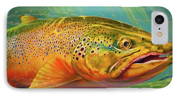 Brown Trout Portrait  IPhone Case