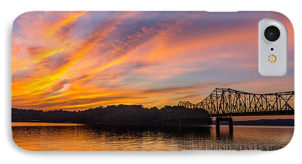 Browns Bridge Sunset IPhone Case by Michael Sussman