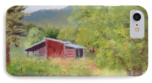 IPhone Case featuring the painting Brown's Shed by Nancy Jolley