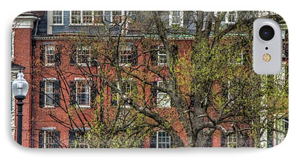 IPhone Case featuring the photograph Brownstone Panoramic - Beacon Street Boston by Joann Vitali