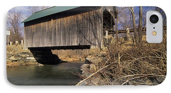 Brownsville Covered Bridge - Brownsville Vermont IPhone Case by Erin Paul Donovan