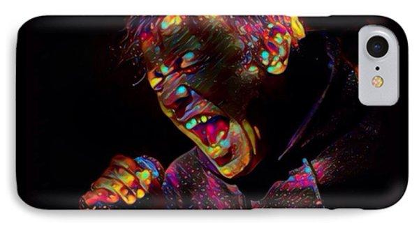 Bruce Dickinson Color Splash IPhone Case