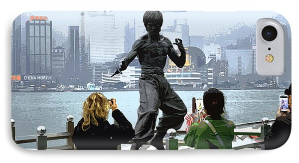 Bruce Lee And 3 Tourists IPhone Case