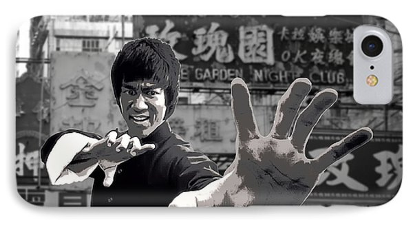 Bruce Lee Founder Of Jeet Kune Do IPhone Case by Daniel Hagerman