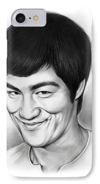 Bruce Lee IPhone 7 Case by Greg Joens