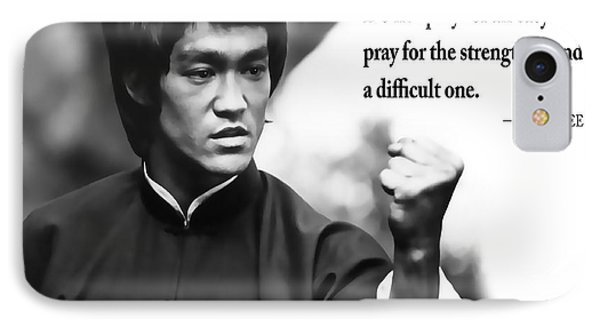 Bruce Lee On Enduring Life's Challenges IPhone Case by Daniel Hagerman