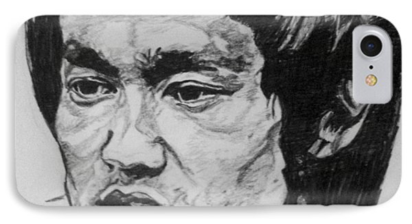 Bruce Lee IPhone Case by Rachel Natalie Rawlins