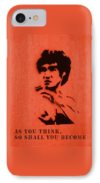 Bruce Lee - So Shall You Become IPhone Case by Richard Reeve