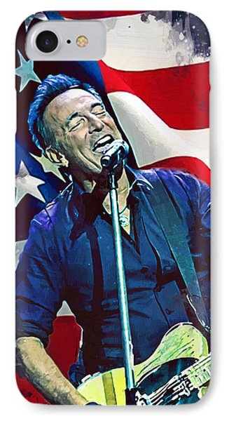 Bruce Springsteen IPhone Case by Afterdarkness